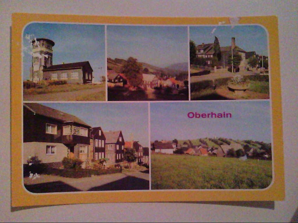 AK. Oberhain. Kr. Rudolstadt. Mehrbildkarte mit 5 Abb.