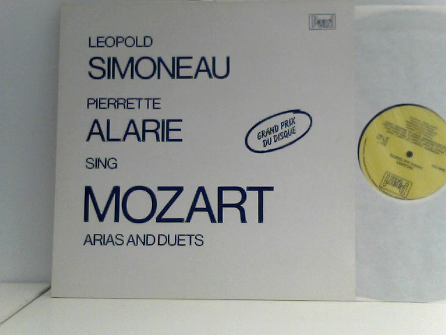 Mozart, Wolfgang Amadeus: Leopold Simoneau Pierette Alarie sing Mozart Arias and Duets