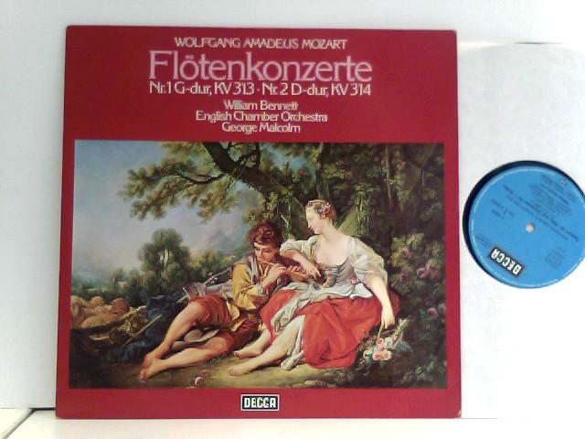 Mozart, Wolfgang Amadeus: Wolfgang Amadeus Mozart,  William Bennett,  English Chamber Orchestra,  George Malcolm  – Flötenkonzerte Nr. 1, KV 313 - Nr. 2 D-Dur, Kv 314