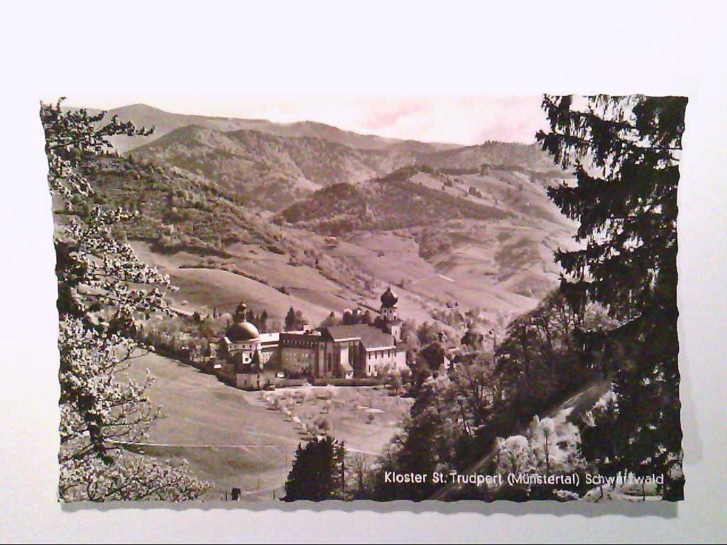 AK. Münstertal / Schwarzwald. Kloster St.Trudpert. Echte Photografie. s/w.