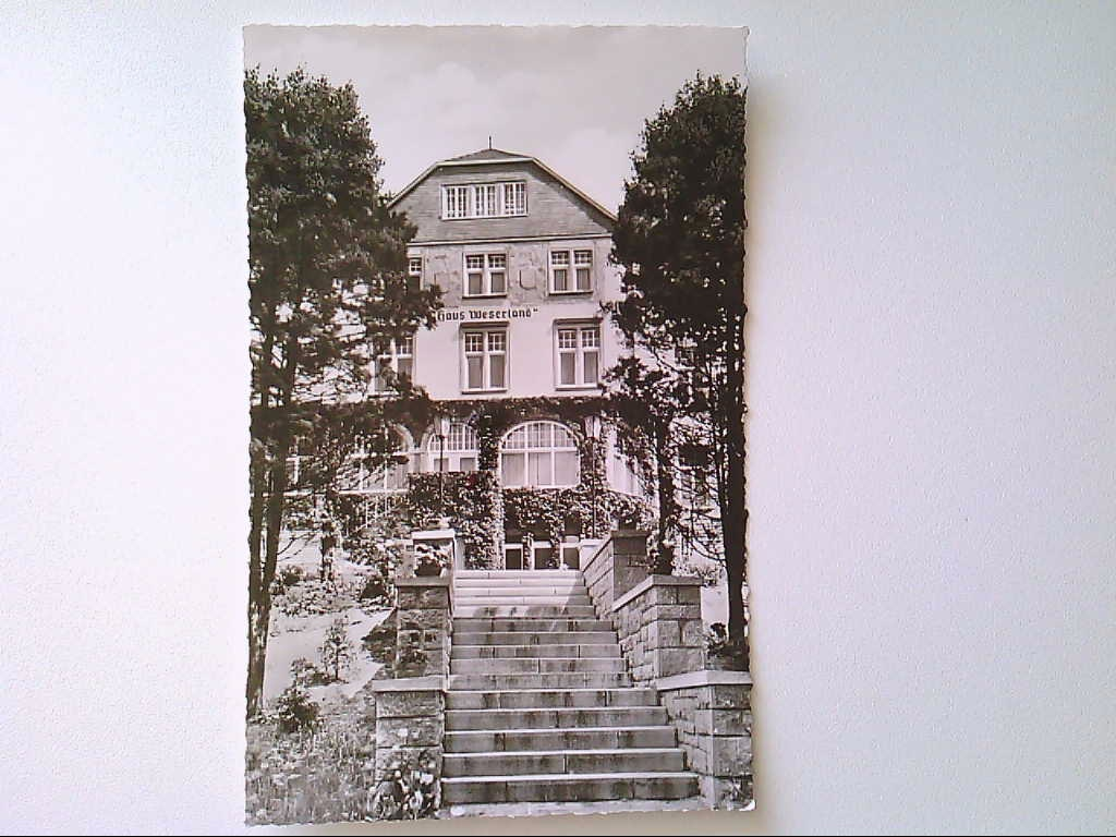 AK. Hann. Münden. Haus Weserland. Echte Photographie. s/w.