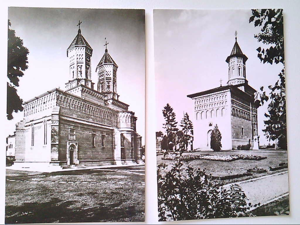 AK. Doppelpack. Iasi. Rumänien. Fürstenkirche zum Hl. Nikolaus. Drei - Hierachen - Kirche. s/w.