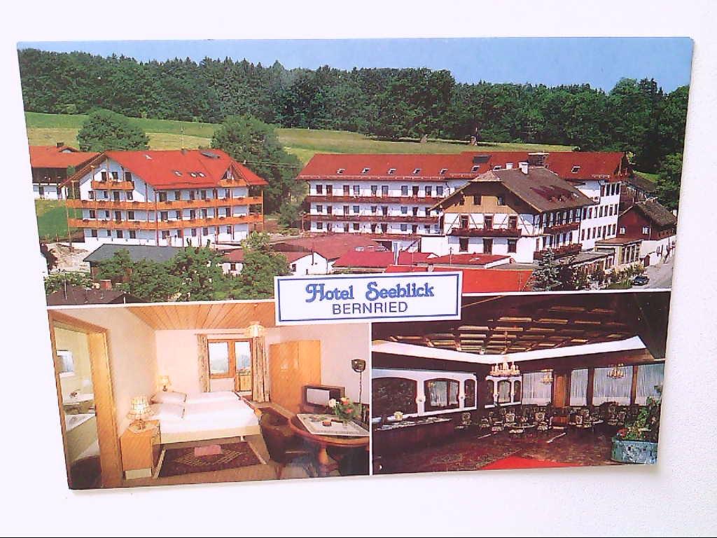 "AK. Hotel "" Seeblick "". Bernried am Starnberger See. Mehrbildkarte mit 3 Abb."