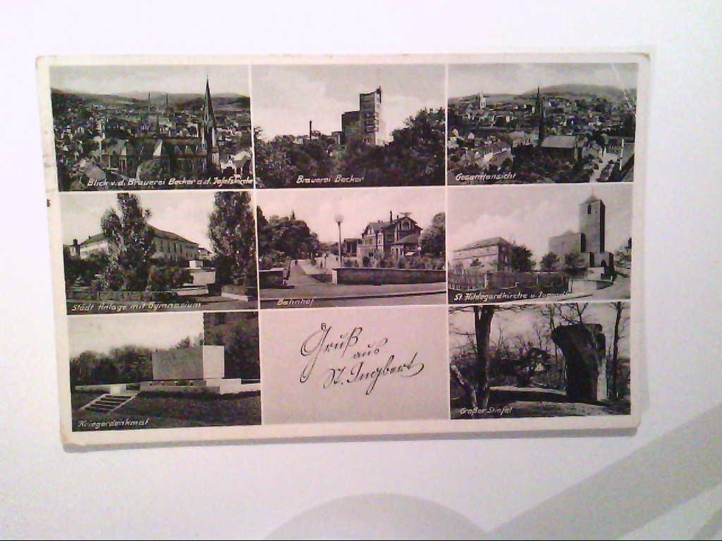 AK. St.Ingbert. Mehrbildkarte mit 8 Abb. s/w.