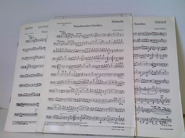 Unterhaltungs-Konzert Band I - 3 Notenhefte: Kontrabaß (Edition Schott 4002 d), Violoncello (Edition Schott 4002 c), Violine II (Edition Schott 4002 b) 3 Hefte