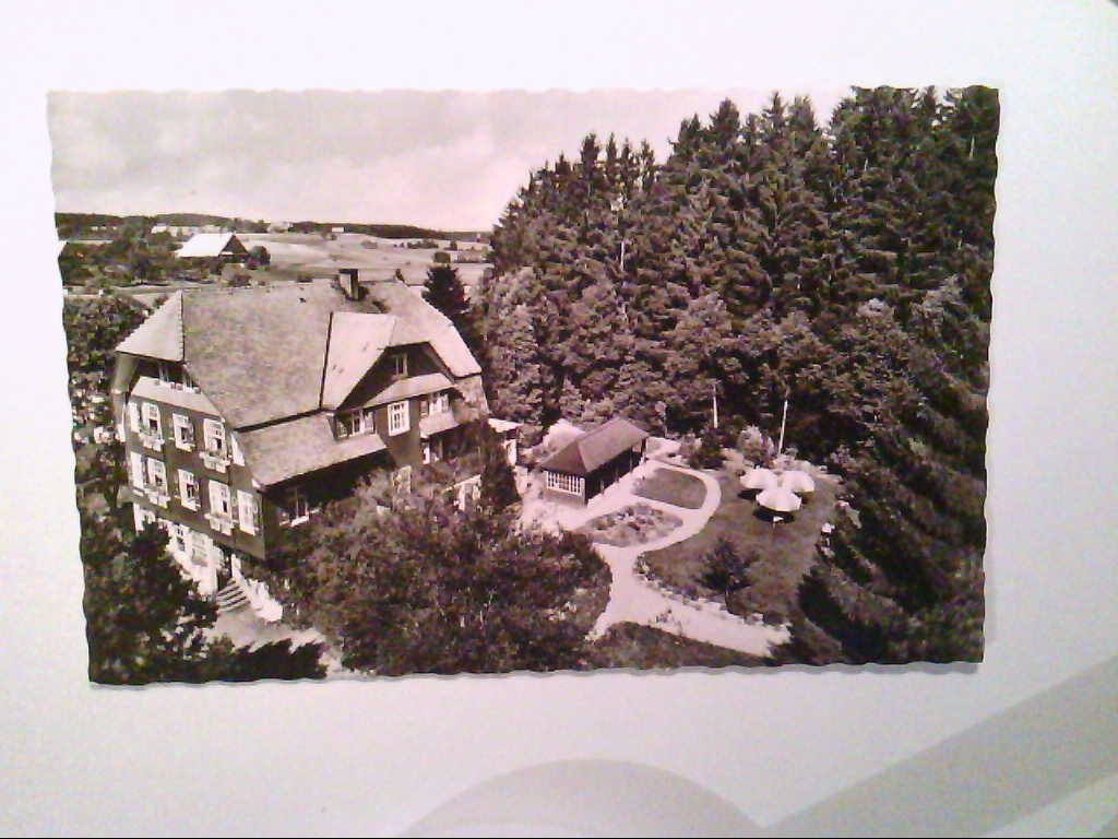 """Königsfeld. Sanatorium """" Westend """". Dr. Schall. Luftaufnahme. Echte Photographie. s/w. , Ansichtskarte"""