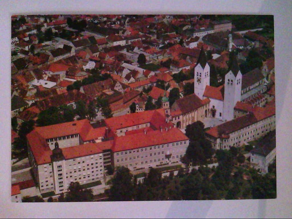 Freising an der Isar. Dom. Luftaufnahme. , Ansichtskarte