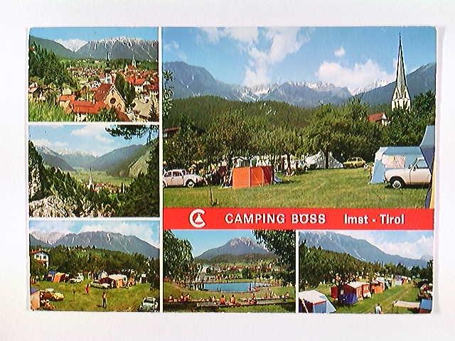 Imst, Oberstadt, Tirol, Camping-Böss, Mehrbild-AK, ungelaufen, ca. 1980