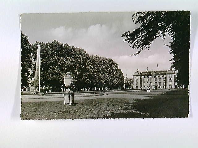 Schwetzingen, Arionsbrunnen mit Schloß, AK, ungelaufen, ca. 1955