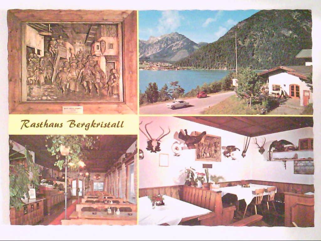 """Rasthaus """" Bergkristall """". Maurach am Achensee, Tirol. Österreich. Mehrbildkarte mit 4 Abb. , Ansichtskarte"""