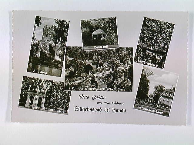 Wilhelmsbad b. Hanau, Kurhaus etc., 6 Ansichten, Mehrbild-AK, ungelaufen, ca. 1955