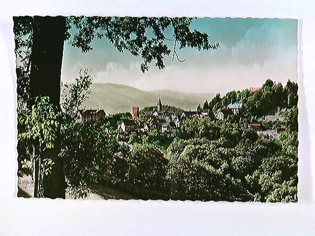 Lindenfels, Odenwald, Ortspanorama, coloriert, AK, ungelaufen, ca. 1955