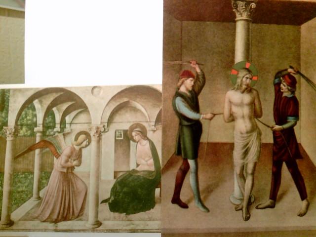 Beato Angelico. Set 2 x  AK farbig, 1 x La flagellazione / Die Geißelung. 1 x L´Annunziazione / die Verkündigung. Firenze / Florenz / Toskana / Italien