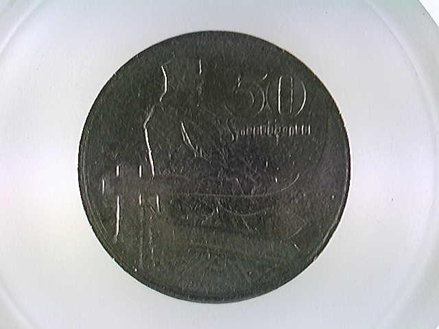 Münzen Latvia, Lettland, 50 Santimu, 1922