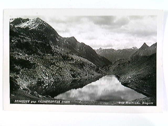 Zeinissee geg. Fädnerspitze, AK, gelaufen 1953