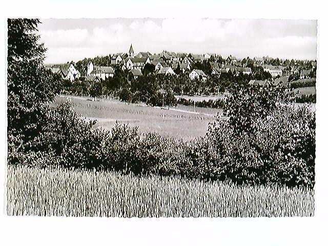 Göschweiler, Schwarzwald, Ortspanorama, AK, ungelaufen, geschrieben 1954