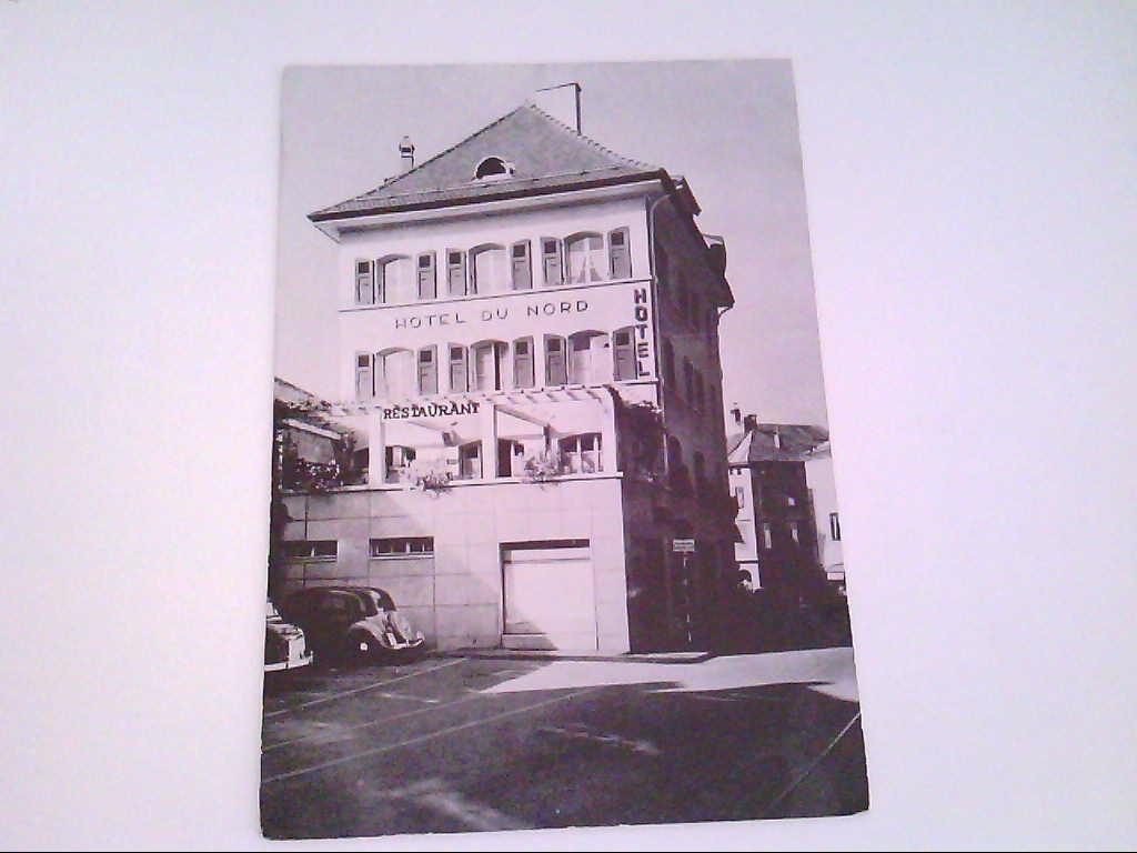 Hotel Du Nord. Aigle. Schweiz. s/w. , Ansichtskarte