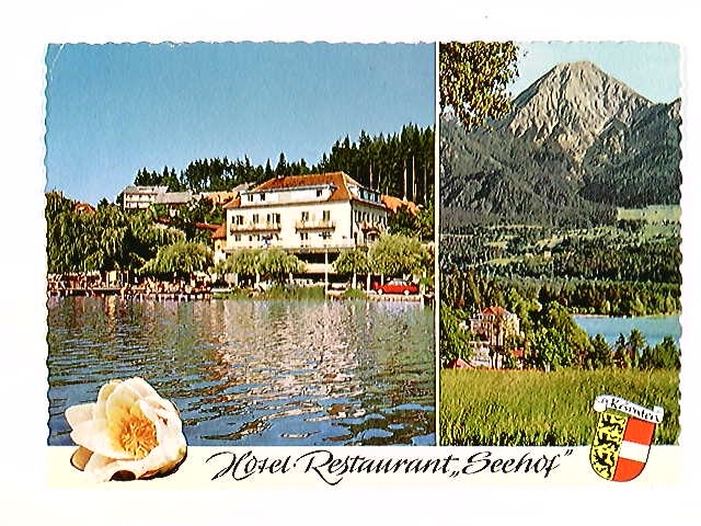 Egg am Faaker See, Hotel Restaurant Seehof, Mehrbild-AK, gelaufen 1971