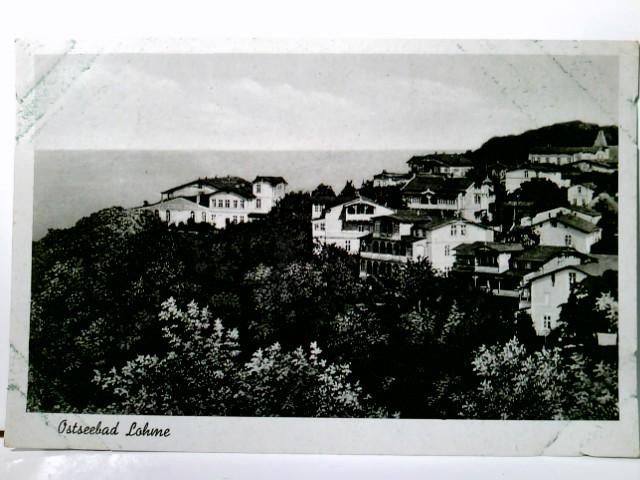 Ostseebad Lohme. Insel Rügen / Mecklenburg Vorpommern. Alte AK s/w, gel 1943 als Feldpost. Panoramablick, Gebäudeansichten