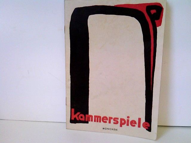 """Kammerspiele München - Spielzeit 1949/50 - Heft Nr. 2: Der Vater - Beilage: Schauspielliste """"Des Teufels General"""" (4.12.49)"""