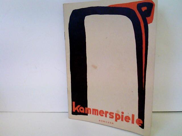 """Kammerspiele München - Spielzeit 1949/50 - Heft Nr. 3: Geisterkomödie - Beilage: Schauspielliste """"Ende gut - alles gut"""" und Pressestimmen"""