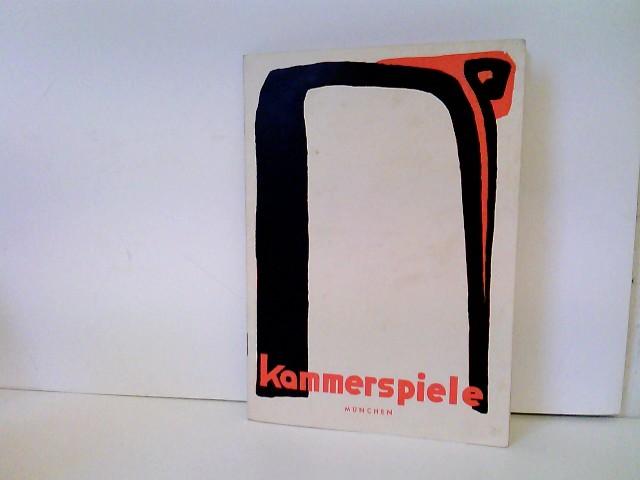 Münchener Kammerspiele (Hrsg.): Kammerspiele München - Spielzeit 1949/50 - Heft Nr. 6: Frühlingserwachen - Beilage: Schauspielliste