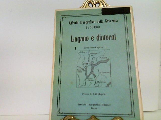Atlante topografico della Svizzera. Lugano e dintorni. Maßstab / Scala di 1 : 50 000