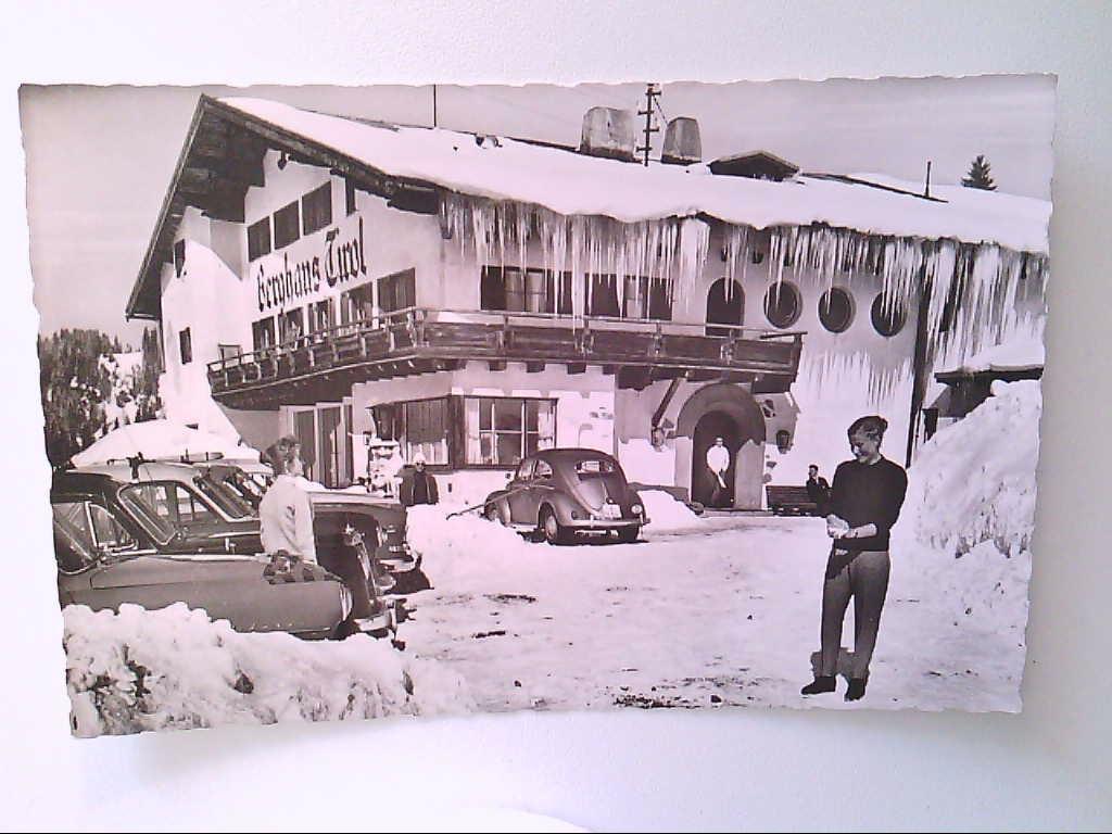 Berghotel Tirol. Wertach-Haslach. Im Winter. Gäste. AK.