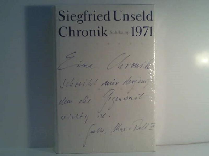 Unseld, Siegfried: Chronik; Teil: Bd. 2., 1971. hrsg. von Ulrike Anders ...