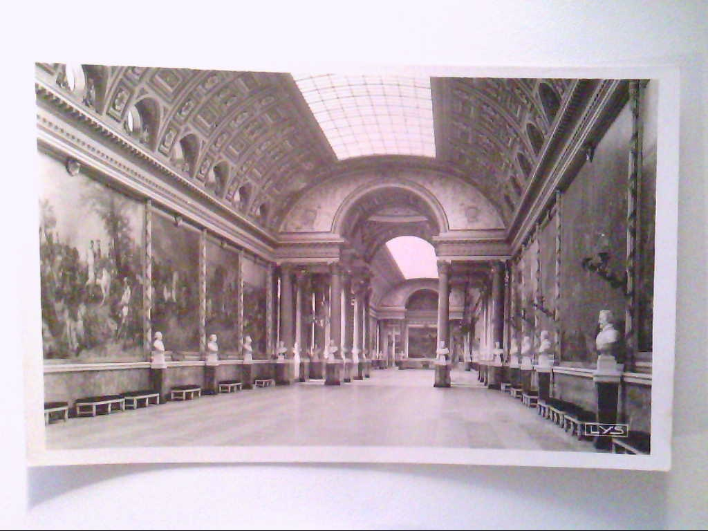 Versailles, Frankreich. Le Palais - La Galerie des Batailles. AK.