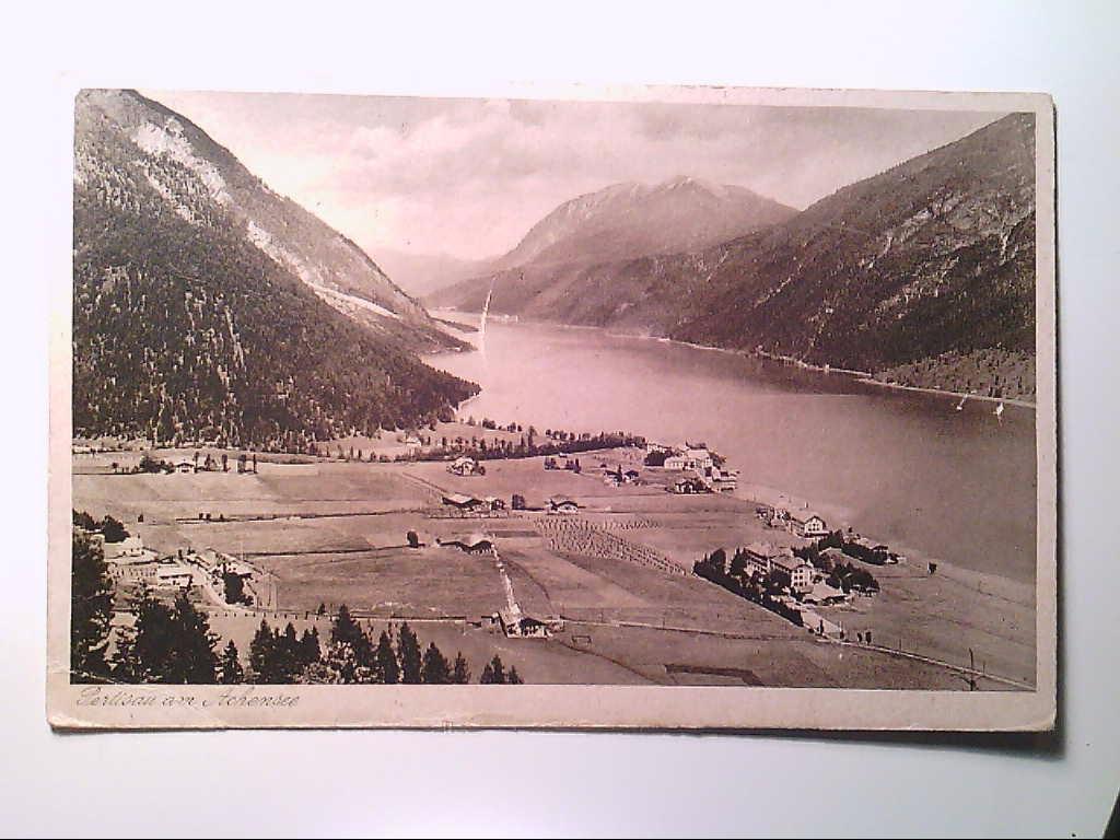 Pertisau am Achensee. Österreich. Teilansicht. Luftaufnahme. AK.