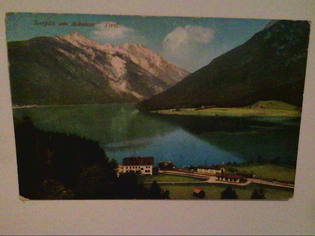 Seespitz am Achensee. Tirol. Österreich. Künstlerkarte. AK.