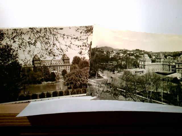 Torino / Turin / Piemont / Italien. 2 x Alte AK s/w. 2 x Castello del Valentino. Gebäudeansichten, Teilansicht des Ortes, Panoramablick