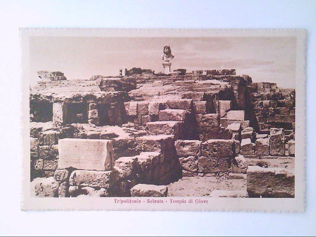 Sabrata, Libyen. Tripolitania. Templo di Giove. AK.