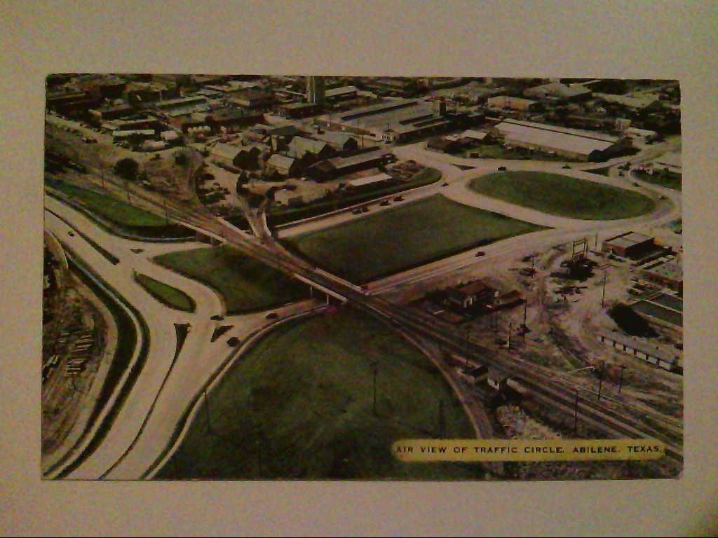 Abilene, Texas. USA. Traffic Circle. Luftaufnahme. AK.