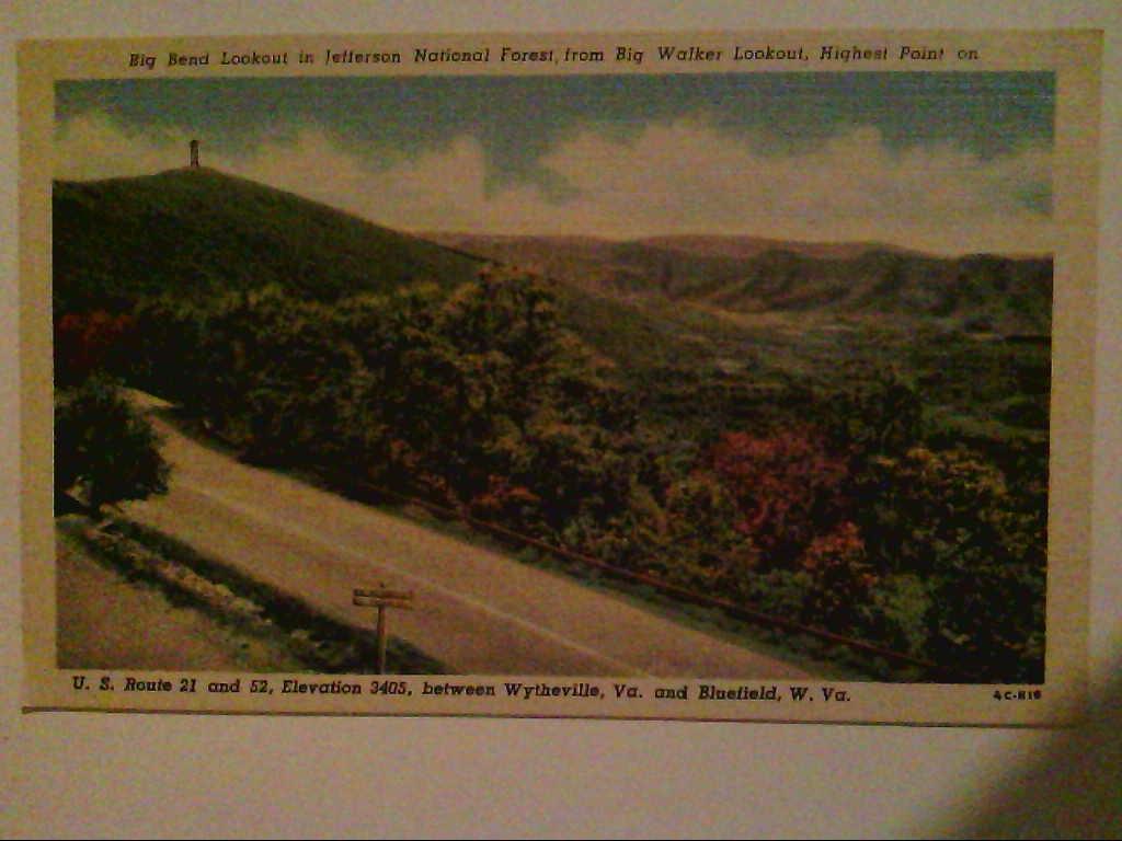 U.S.Route 21 und 52. Wytheville Va. und Bluefield W. Va. Virginia. USA. AK.