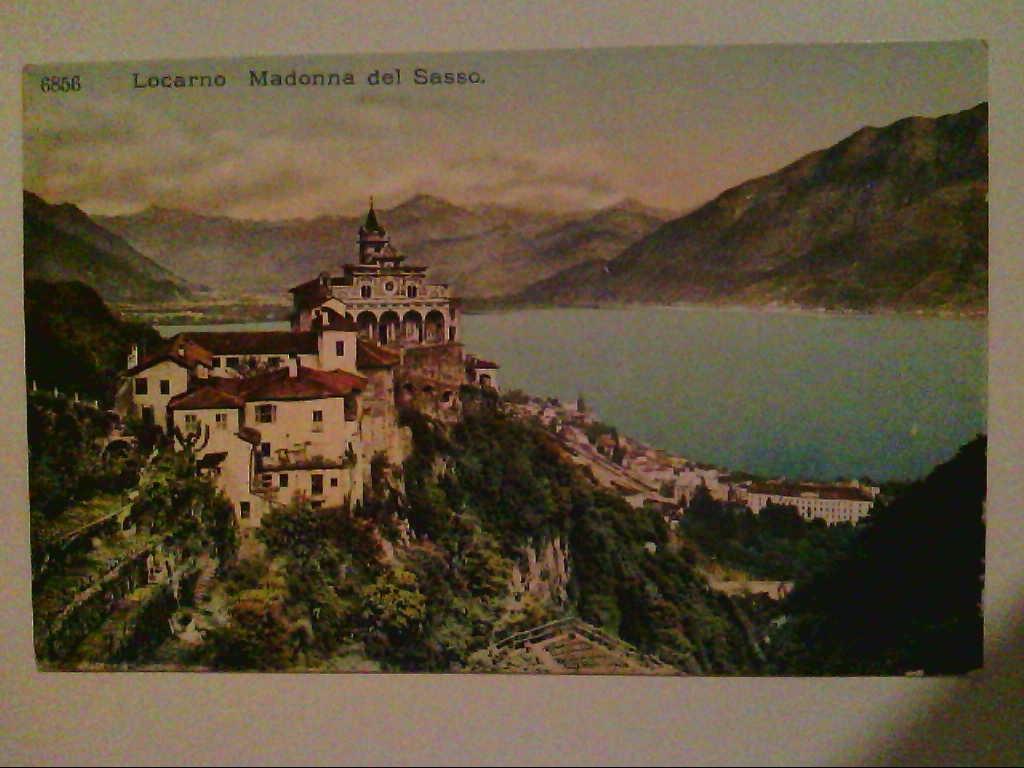 Locarno. Schweiz. Madonna del Sasso. Künstlerkarte. AK.