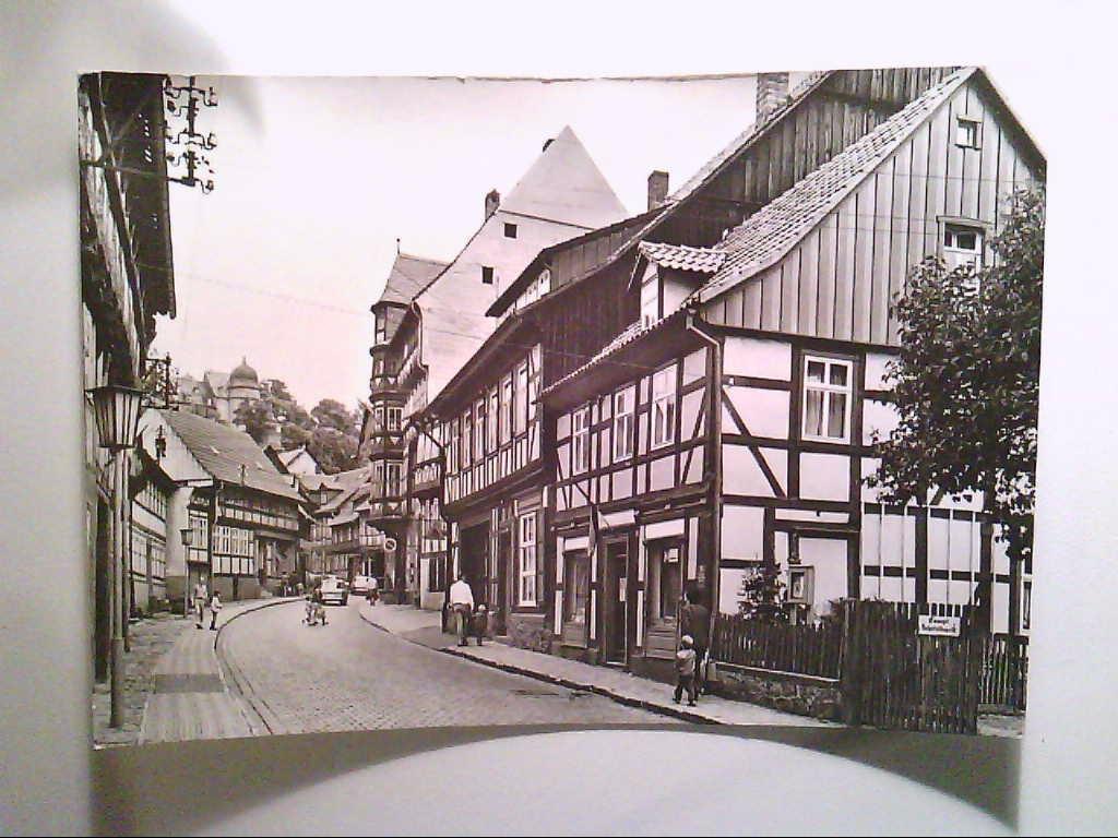 Stolberg/Harz. Partie an der Thomas-Müntzer-Gasse. Fachwerkhäuser. AK.