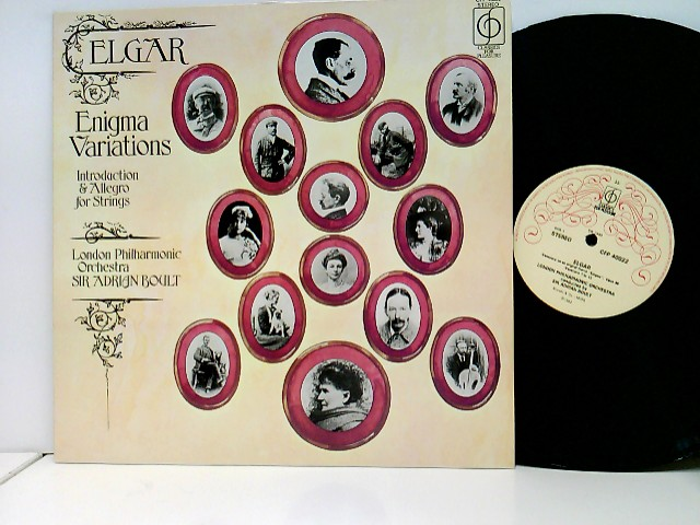The London Philharmonic Orchestra / Sir Adrian Boult – Enigma Variations / Introduction & Allegro For Strings