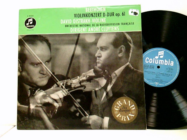 David Oistrakh* / Orchestre National De La Radiodiffusion Française* / André Cluytens – Violinkonzert D-Dur Op. 61