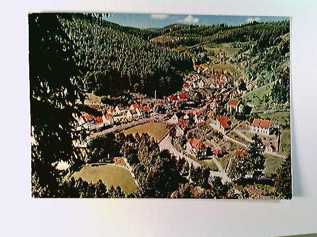 Schönmünzach, Blick vom Verlobungsfelsen, AK, gelaufen 1965