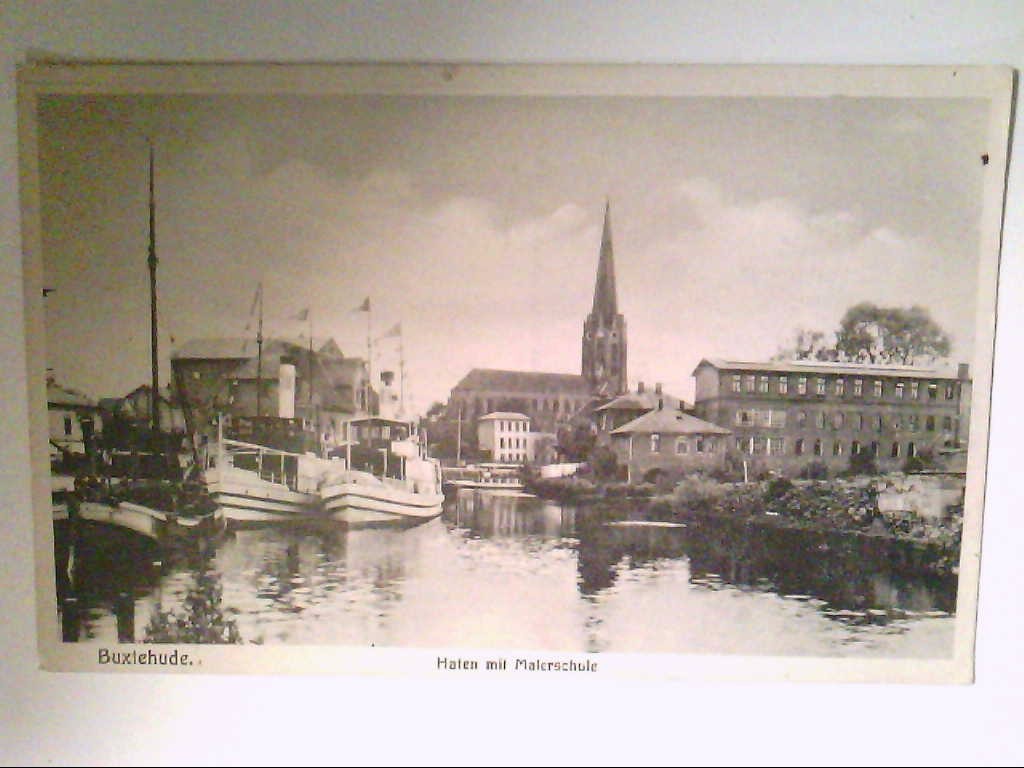 Buxtehude. Hafen mit Malerschule. AK.