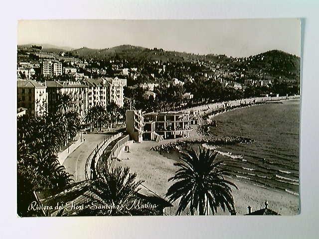 Sanremo, Marina, Riviera dei Fiori, AK, gelaufen 1953