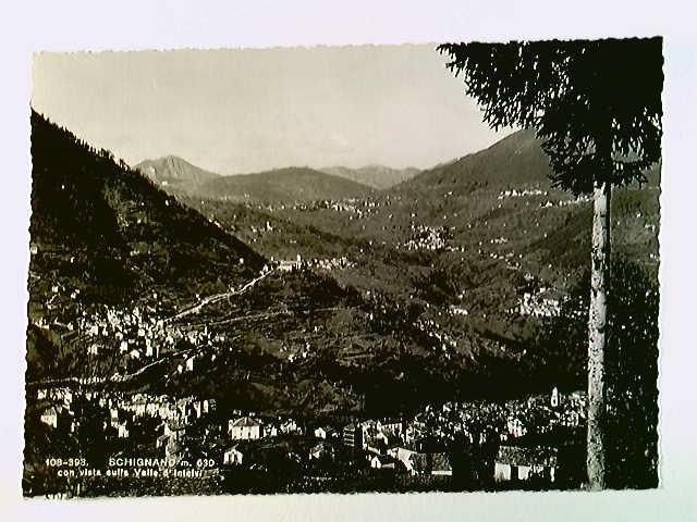 Schignano, Vista sulla Valle d'Intelvi, AK, ungelaufen