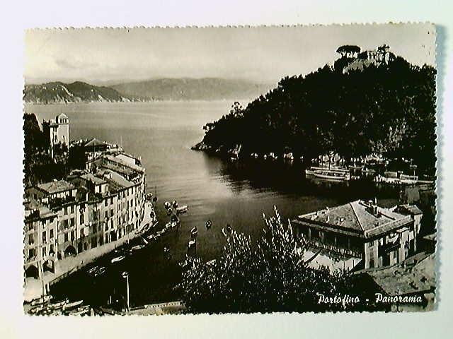 Portofino, Panorama, AK, gelaufen 1949