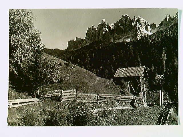 Val di Funes, Le Odle m. 3027, Villnöss, AK, gelaufen 1963