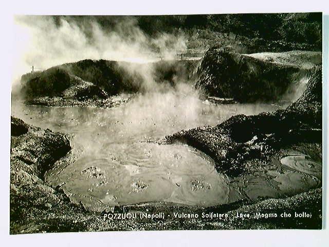 Pozzuoli, Vulcano Solfatara, Lava, AK, ungelaufen, ca. 1955