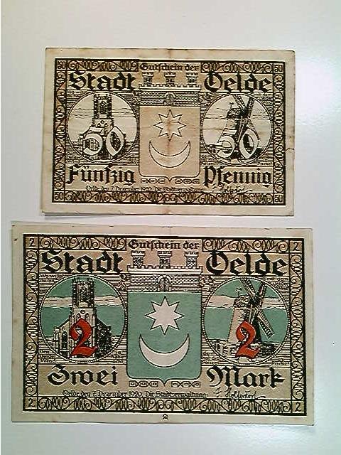 Notgeld Stadt Oelde, 50 Pfennig und 2 Mark, ohne Datum