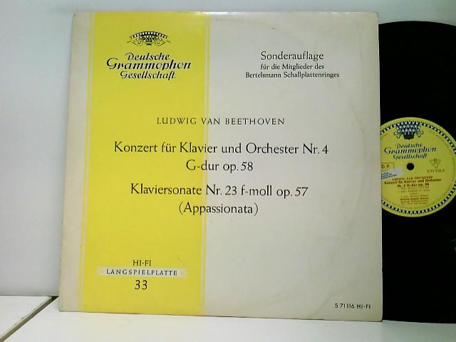 Konzert für Klavier und Orchester Nr. 4 G-dur op. 58 - Klaviersonate Nr. 23 f-moll op. 57 Appassionata