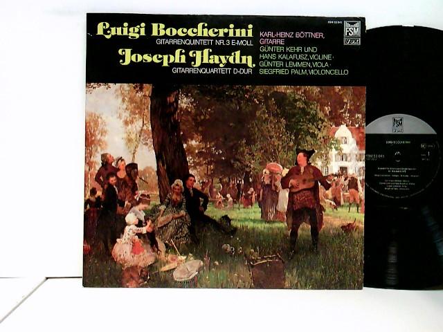 Boccherini, Luigi: Joseph Haydn - Karl-Heinz Böttner, Günter Kehr, Hans Kalafusz, Günter Lemmen*, Siegfried Palm – Gitarrenquintett Nr. 3 E-Moll / Gitarrenquartett D-Dur